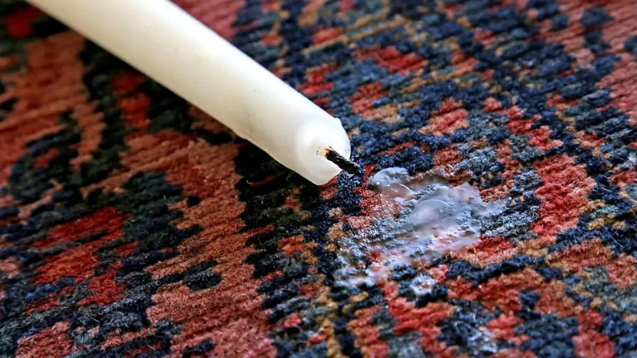 روش پاک کردن شمع از روی لباس، فرش و سطوح مختلف